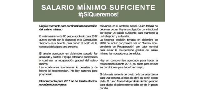 SALARIO MÍNIMO SUFICIENTE #¡SíQueremos!
